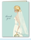 Vintage Veil Thank You Notes