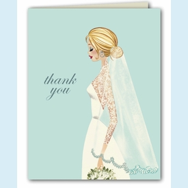 Vintage Veil Thank You Notes - click to enlarge