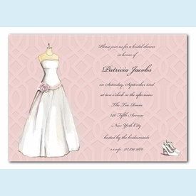 Wedding Dress Invitation - click to enlarge