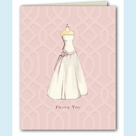 Wedding Dress Thank You Notes - click to enlarge