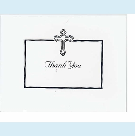 White Cross Thank You Notes - click to enlarge