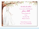 Wonderful Wedding Dress Invitation
