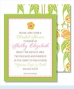 Yellow Flower Green Border Small Flat Cards