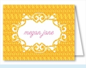 Yellow/Orange Floral Mesh Note Cards