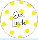 Yellow Polka Dot Personalized Magnet