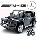 Magic Cars� Big 2 Seater Mercedes Remote Control Electric Ride On G55 AMG G Wagon For Kids W/Leather Seat