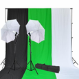 "32"" Umbrellas 9' Backdrops Daylight Photo Studio Lighting Kit"