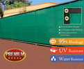 6'x50' Green Fence Screen 95% Blockage Privacy Fencing Mesh