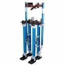 "Adjustable 18"" to 30"" Aluminum Drywall Painting Stilts Blue"