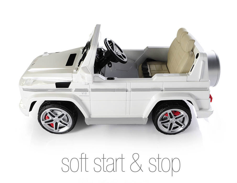 magic cars big seater mercedes remote control electric ride on g55 amg g wagon for kids wleather seat