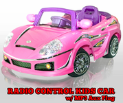 Magic Cars� Big Pink Ride On Remote Controlled Convertible RC Car