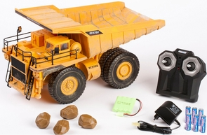 Big YELLOW Remote Control (RC) Dump Truck W/Working Dump Function