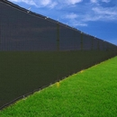 Black 6'x 50' Privacy Screen Fence Construction Residential
