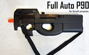 Electric Automatic Airsoft P-90 Gun Shoots Up To 400 rounds Per Minute