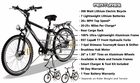 Electric Powered Bicycle Moped W/Long Range Lithium Battery - Street Legal