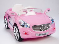 Pink Princess Magic Cars® European Roadster Ride On Remote Control Car