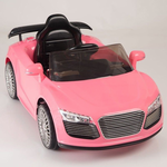 Magic Cars� Pink Audi Turbo Roadster Style RC Ride On Car W/Twin 12 Volt Motors
