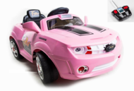 Magic Cars� Pink Ride On Camaro Remote Control Car For Kids W/MP3 Port