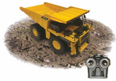 PREMIUM Big YELLOW Remote Control (RC) Dump Truck W/Working Mining Dump Bed