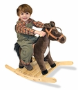 Rock and Trot Plush Rocking Horse for Children