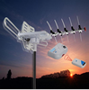 UHF VHF FM Amplified Outdoor TV Antenna Remote Controlled