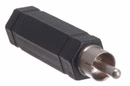 1/4 Inch Mono Female to RCA Male Adapter