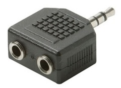 1 Inch 3.5mm Male to Dual 3.5mm Female Mini Stereo Y splitter adapter