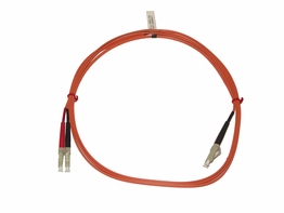 1 Meter LC to LC Multimode 50/125 Micron Duplex Fiber Optic Cable