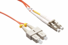 1 Meter - Multimode Fiber Patch Cable - 62.5/125 - LC/SC