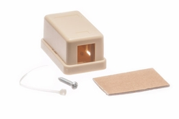 1 Port - Surface Mount Outlet Box - Keystone - Ivory