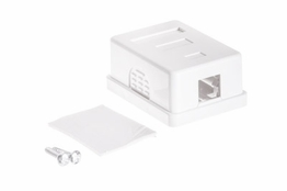 1 Port - Surface Mount Outlet Box - Keystone - White