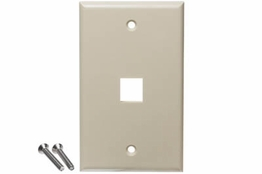 1 Port - Wall Mount - Single Gang - Ivory