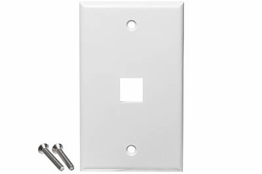 1 Port - Wall Plate - Single Gang - White