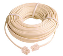 100 Foot RJ-11 6P4C Modular Telephone Line Phone Cord