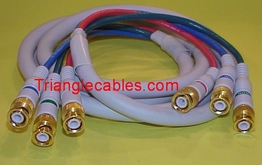 12 Foot 3 BNC Male to 3 BNC Male HDTV Component Video Cable (Y/Pr/Pb)