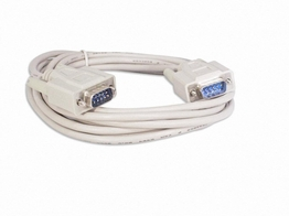 15 Ft DB-9 Male to Male RS-232 DB9 Serial cable fully shielded molded
