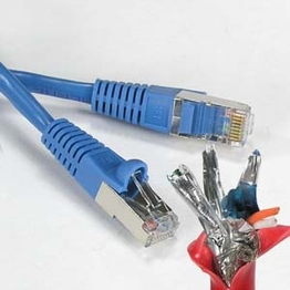 2 Foot Category 6 Shielded Network Patch Cable CAT 550Mhz STP 568 B.2