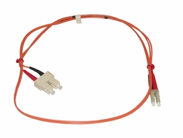 2 Meter LC-SC Multimode 62.5/125 Duplex Fiber Optic Jumper Cable