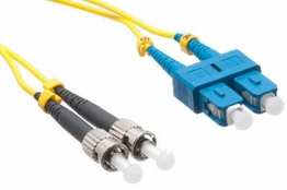 2 Meter - Singlemode Fiber Patch Cable - 9/125 - SC/ST