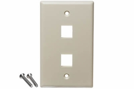 2 Port - Wall Plate - Single Gang - Ivory