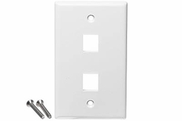 2 Port - Wall Plate - Single Gang - White