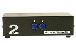 2-Way Composite RCA Audio Video Input Selector Switch