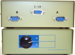2 Way DB-9 Serial Data Manual Switch Box AB Two Male Serial Devices