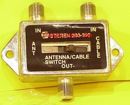 2-Way Metal Coaxial F Type Connector AB Switch