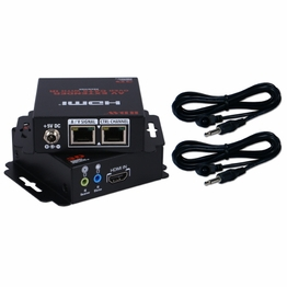 200 Ft HDMI over Dual Cat5e Cat6 Extender Kit Bi-Directional IR Control