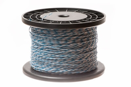 24 AWG Blue/White Cross Connect Wire - 1000FT