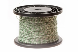 24 AWG Green/White Cross Connect Wire - 1000FT
