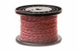 24 AWG Red/White Cross Connect Wire - 1000FT
