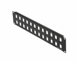 24 Port 2 Row Snap-In Patch Panel for Keystone Inserts 19 Inch 2U