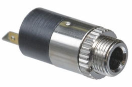 3.5mm Stereo Female Panel Mount Connector - Metal